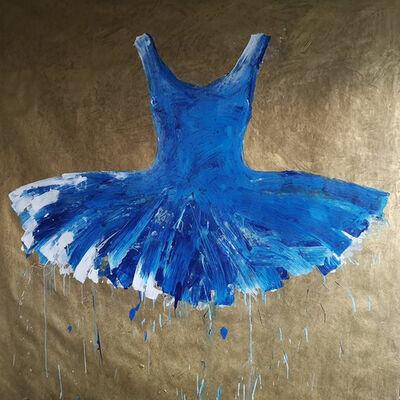 Ewa Bathelier, 'Blue Dress', 2018