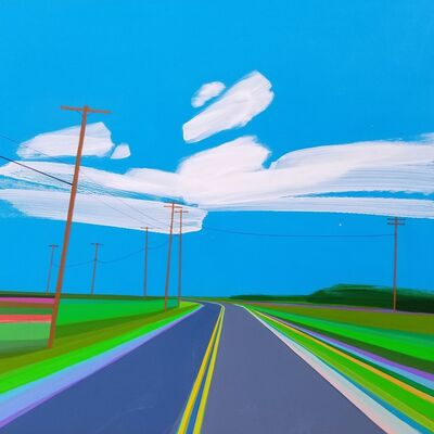 Grant Haffner, 'Napeague Meadow Road (Two Views)', 2015