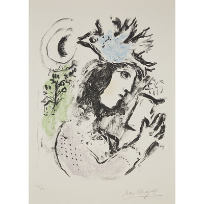 Marc Chagall, 'The Poetess', 1972