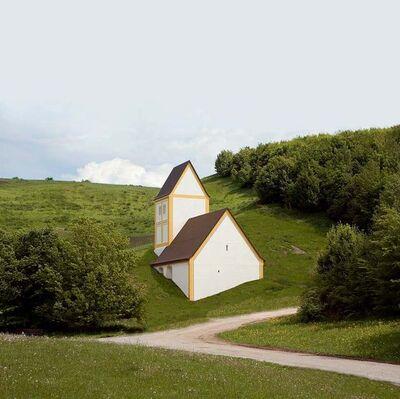 Timm Ulrichs, 'Versunkenes Dorf', 2004