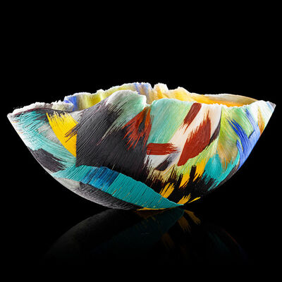 "Toots Zynsky, 'Filet-de-verre vessel, ""Landscape I""', 1992"