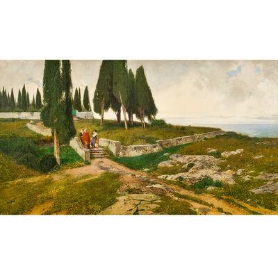 Ferdinand Brunner, 'Ferdinand Brunner, Cypresses, Castel Gandolfo, 1898', 1898