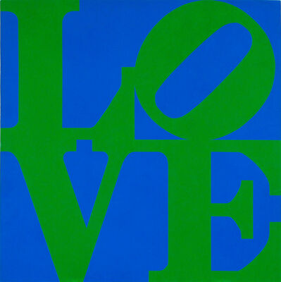 Robert Indiana, 'LOVE (Blue/Green)', 1966