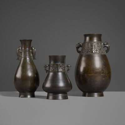 Unknown Japanese, 'Collection of Three Vases', 19th Century
