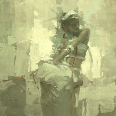 Jeremy Mann, 'Note in Pale Green No. 6'
