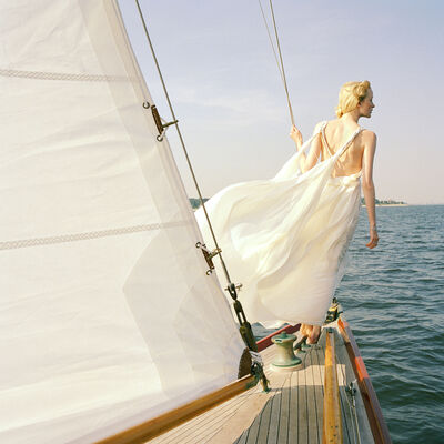 Rodney Smith, 'Edythe Standing on Edge of Sailboat, Larchmont, New York', 2011