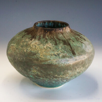 Beth Tate, '#2020 Bronze Turquoise Vessel', 2020
