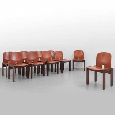 Afra & Tobia Scarpa, 'A set of ten '121' chairs', 1965