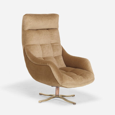 Vladimir Kagan, 'High Back Contour swivel chair', c. 1968