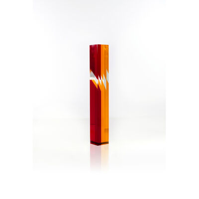 Jean-Claude Farhi, 'Orange and fuchsia column', 1981