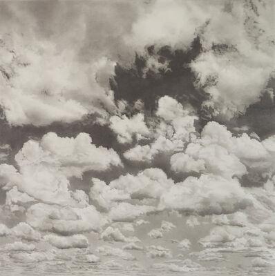 Li Trieb, 'Wolken XVII, 30.1.2017 - 12:00 bis 04.6.2018 - 20:24  (12827 Minuten gezeichnete Zeit)', 2018