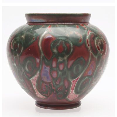 Edgar Böckman, 'Vase with atmospheric floral pattern in luster glaze', 1920