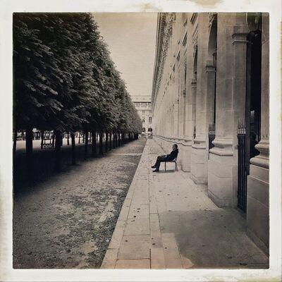 John Lawler, 'Seated Man, Palais Royale, Paris', 2017