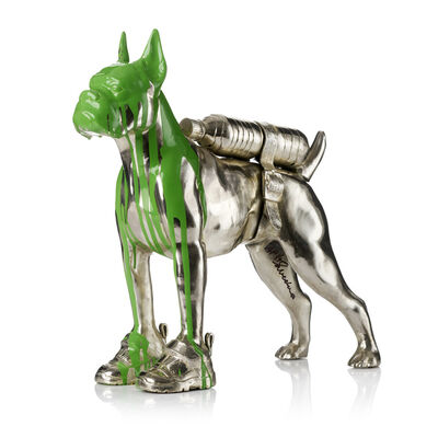 William Sweetlove, 'Cloned Bulldog with pet bottle. ', 2011