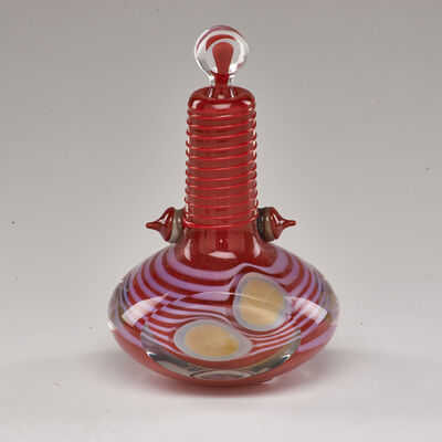 Robert Levin, 'Optical Sommerso glass perfume bottle with  stopper', 1980