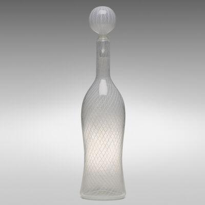 Paolo Venini, 'Monumental Zanfirico bottle with stopper, model 4579', 1956