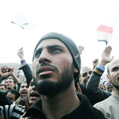 Myriam Abdelaziz, 'Egypt's Revolution, Protesters in Tahrir Square. Cairo, Egypt', 2011