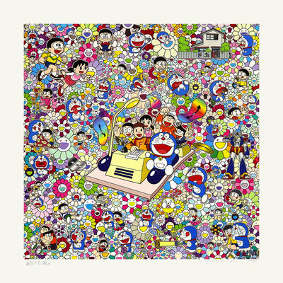 Takashi Murakami, 'On an Endless Journey on a Time Machine with the Author Fujiko F. Fujio!', 2019