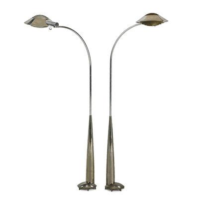 Cedric Hartman, 'Two adjustable floor/reading lamps, Omaha, NE'