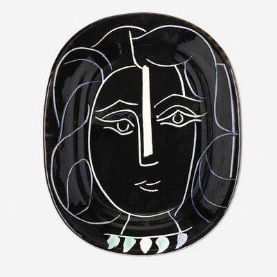 Pablo Picasso, 'Visage de Femme plate', 1953