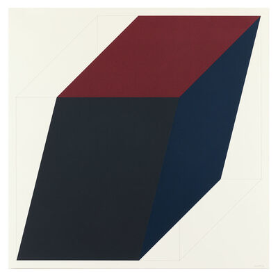 Sol LeWitt, 'Forms Derived from a Cube (Colors Superimposed) 3'