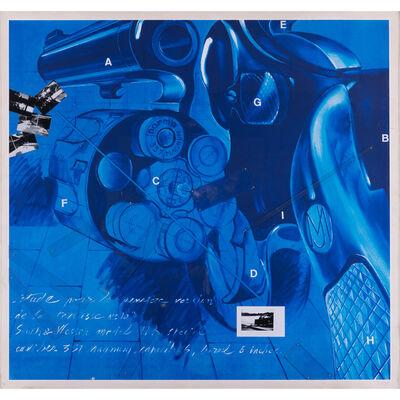 Jacques Monory, 'Etude pour la première version de la terrasse n°10', 1989