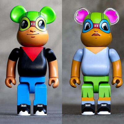 Hebru Brantley, 'Hebru Brantley Bearbrick set of 2', 2019