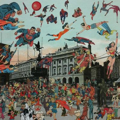 Peter Blake, 'London- Piccadilly Circus- The Convention of Comic Book Characters', 2012