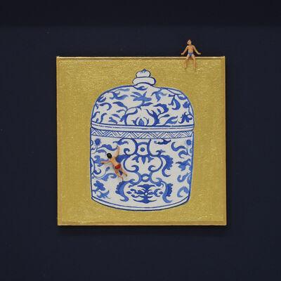 Hoi Kiu Angel Hui, 'Swimming in Blue and White', 2019