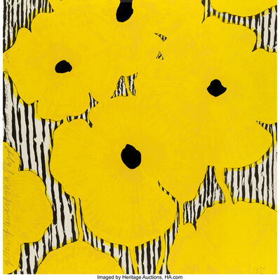 Donald Sultan, 'Yellow Flowers on a stripped ground', 2002