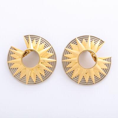 Cartier, 'Gold C-Shaped Earrings by Cartier, Paris', ca. 1960