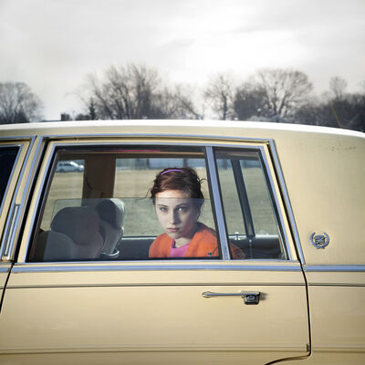 Cig Harvey, 'The Pale Yellow Cadillac, Sadie, Portland, Maine', 2010