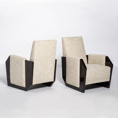 André Sornay, 'Pair of armchairs', ca. 1927