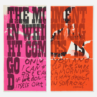 Corita Kent, 'only you and i (diptych)', 1969