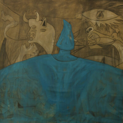 Amjad Ghannam, 'Blue Curtain', 2015