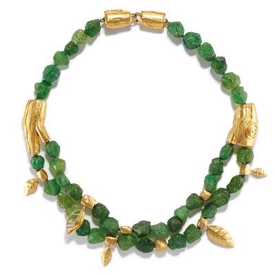Nancy Michel, 'Natural Green Garnet Necklace', ca. 2016