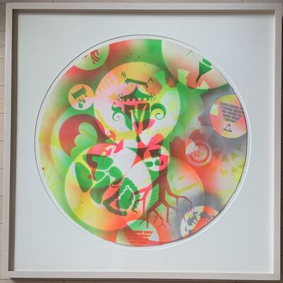 Ryan McGinness, 'Untitled (24-inch Spray-paint Stencil Monoprint 3)', 2007