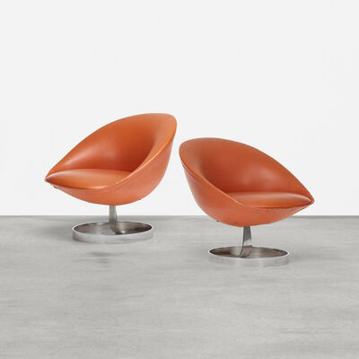Maurice Calka, 'chairs model K1, pair', c. 1960