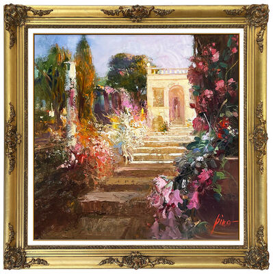 Pino Daeni, 'Pino Daeni Original Painting on Canvas Large Italian Landscape Signed Framed Art', 20th Century