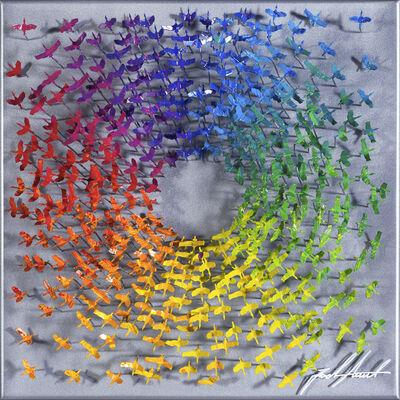 Joel Amit, 'Sun - Rainbow Birds on Silver', NA