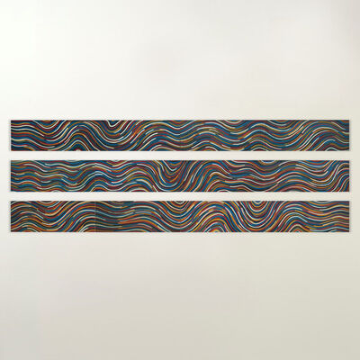 Sol LeWitt, 'Wavy Bands of Color', 1997