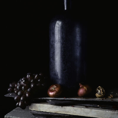 Paul Cary Goldberg, 'Still Life with Grapes and Red Onion	'