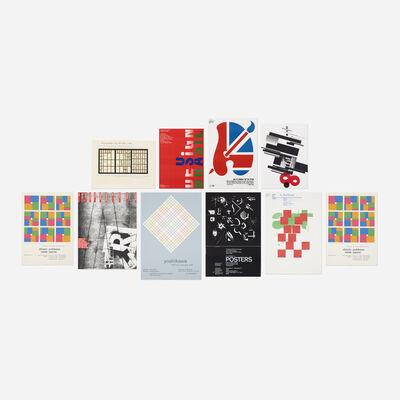 Various Designers, 'collection of ten posters from the library of Paul Rand', 1977-1992