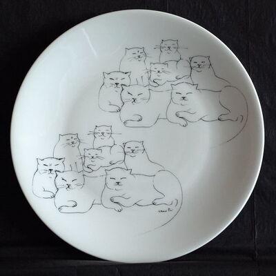 Leonor Fini, 'Chats (Cats)', ca. 1980