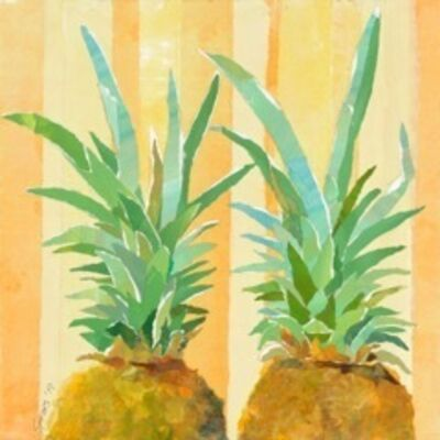 Mary Spears, 'Two Yellow Pineapples', 2019