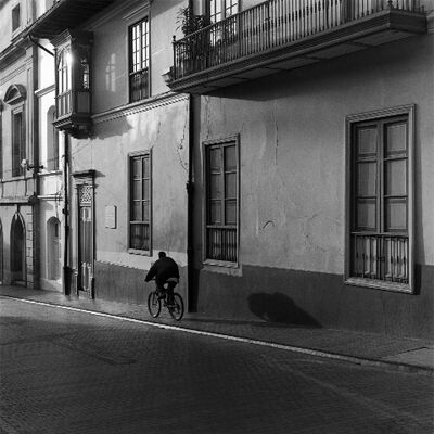 Mario Algaze, 'La Sombra del Ciclista, Bogota, Colombia', 2002