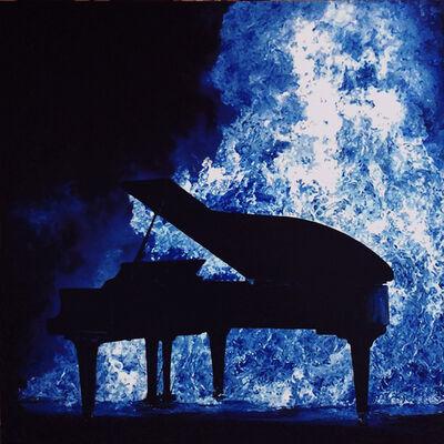 Jin Yong Jeong, 'Sound in burn-blue', 2012