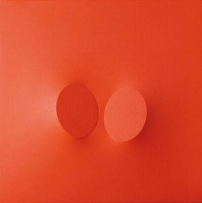 Turi Simeti, 'Due ovali rossi', 2005