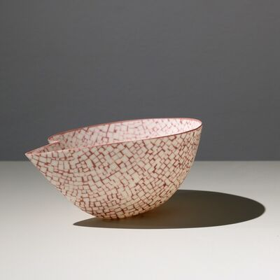 Mieke Everaet, 'POINTED PORCELAIN BOWL, RED & WHITE', 2019