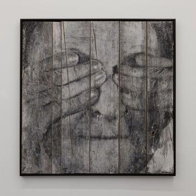JR, 'Los Surcos de la Ciudad, Carthagène, Milagros, encre sur bois', 2011